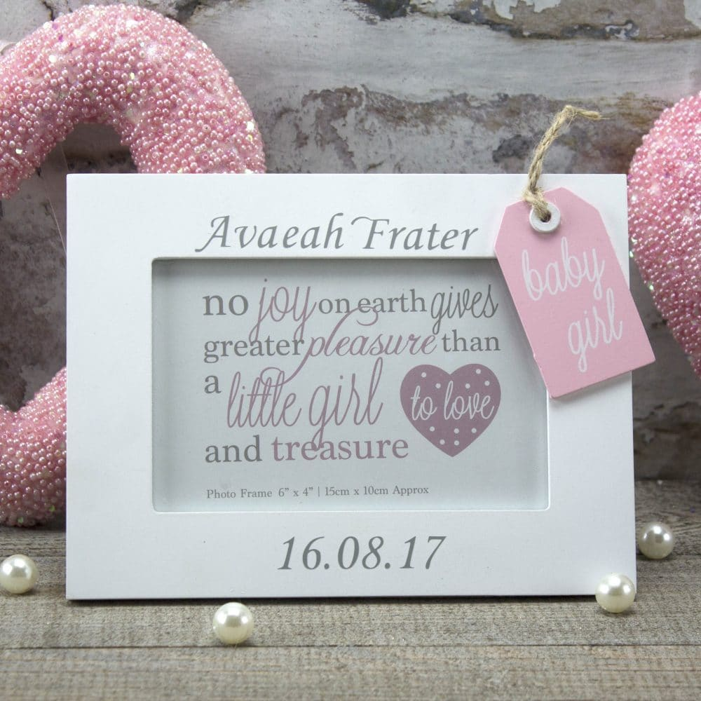 Personalised 'Baby Girl' Photo Frame