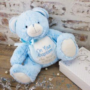 'Personalised Baptism Teddy Bear'