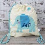 Personalised Kids bag - elephant