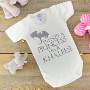 game of thrones baby clothes - i'm a khalessi