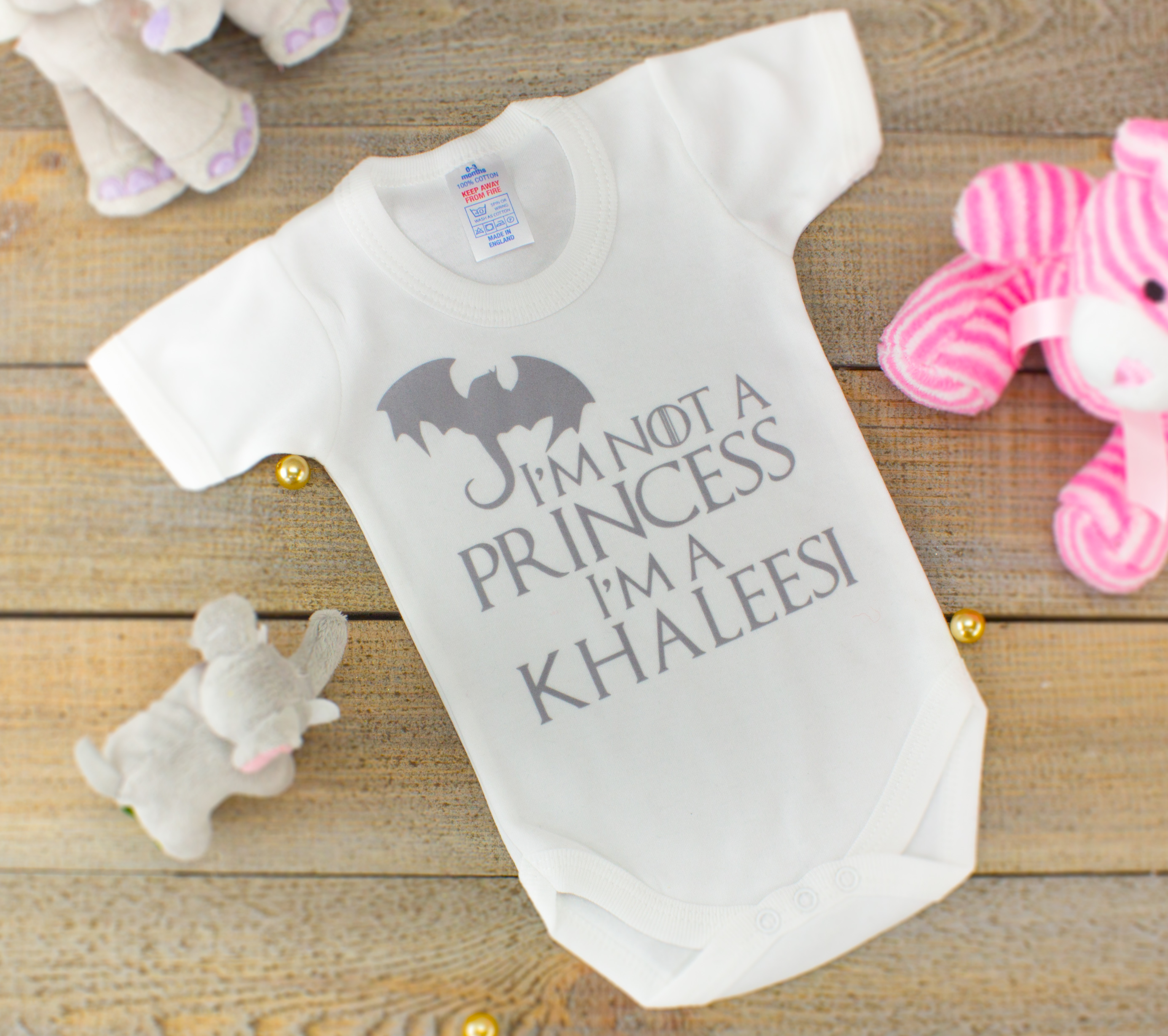 5644c0481f Game of Thrones Baby Bodysuit - I'm A Khalessi