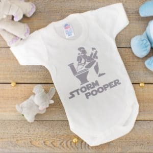 star wars baby clothes - storm pooper