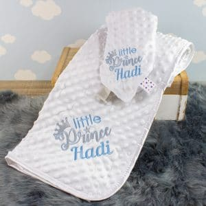 Personalised Baby Boy Blanket & Comforter