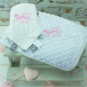 'Personalised Princess Blanket and Comforter Gift Set'