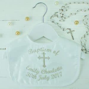 Personalised baptism bib - baptism gift