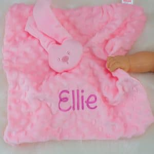 """Personalised Pink Bunny Rabbit Comforter"""
