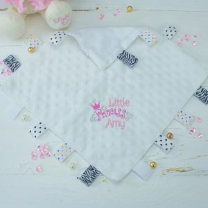 Personalised 'Princess' Taggie Comforter