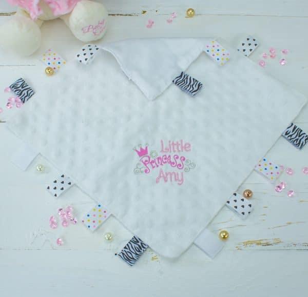 personalised taggie comforter - girls