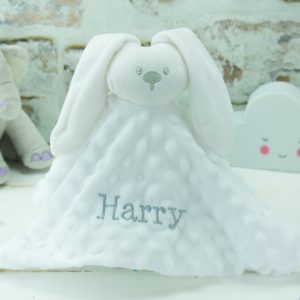 Personalised White Bunny Rabbit Comforter
