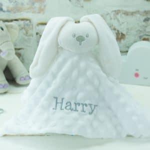 Personalised White Bunny Rabbit Comforter