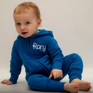 'Personalised Blue Baby & Toddler Onesie'