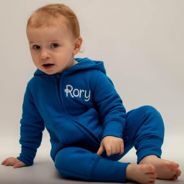 Personalised blue Baby Boy Onesie