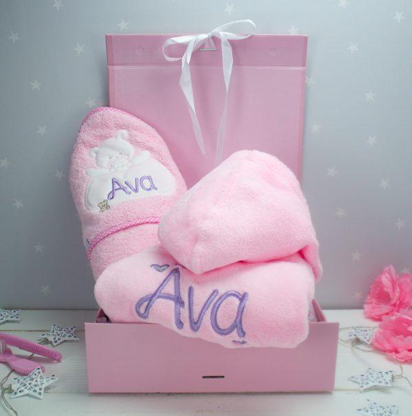 Personalised Baby girl Gift Set