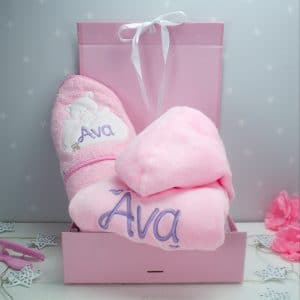 Personalised Baby girl Gift Set
