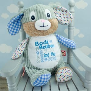 Personalised Baby Boy Bunny Rabbit Soft Toy