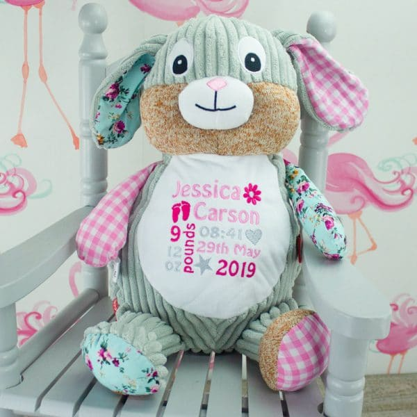 Personalised Baby Girl Bunny Rabbit Soft Toy