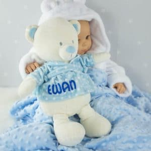 Personalised Baby Boy Teddy Bear