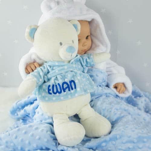 Personalised Teddy Bear - baby boy gift