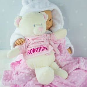 Personalised Teddy Bear - baby girl gift