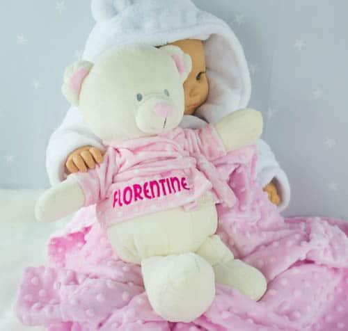 Personalised Teddy Bear - baby girl gift