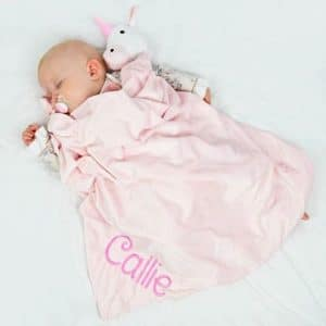 Personalised Pink Unicorn Blanket - Extra Large