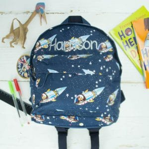 'Personalised 'Space Boy' Print Backpack'