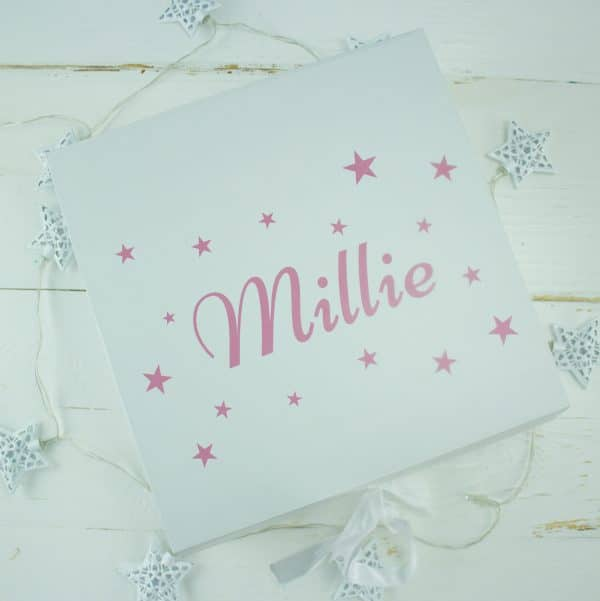 personalised baby keepsake gift box