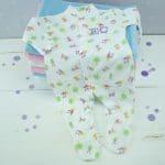 personalised baby girl babygro- white - nature print