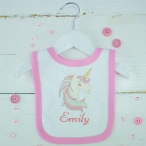personalised unicorn bib