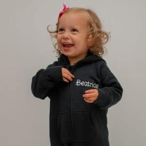 'Personalised Black Baby & Toddler Onesie'