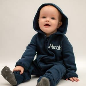 'Personalised Navy Baby & Toddler Onesie'