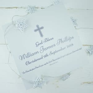'Personalised Christening Keepsake Gift Box'