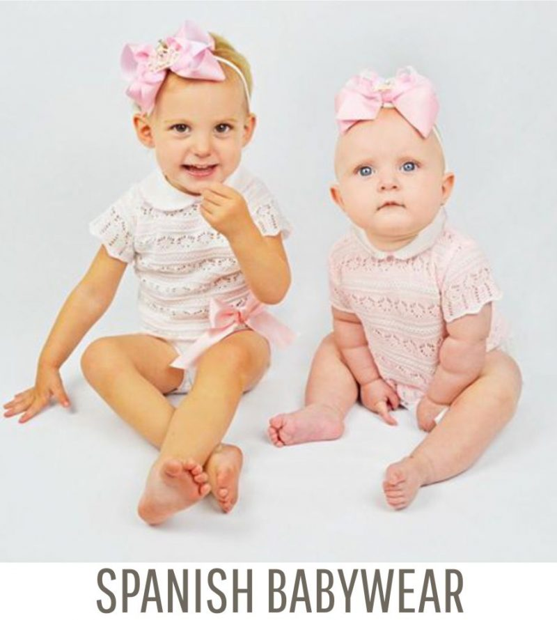 spanish baby clothes banner