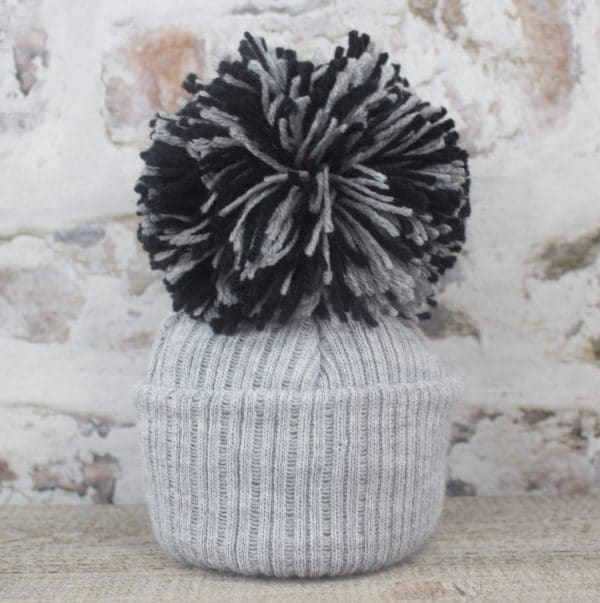 Grey baby Pom hat