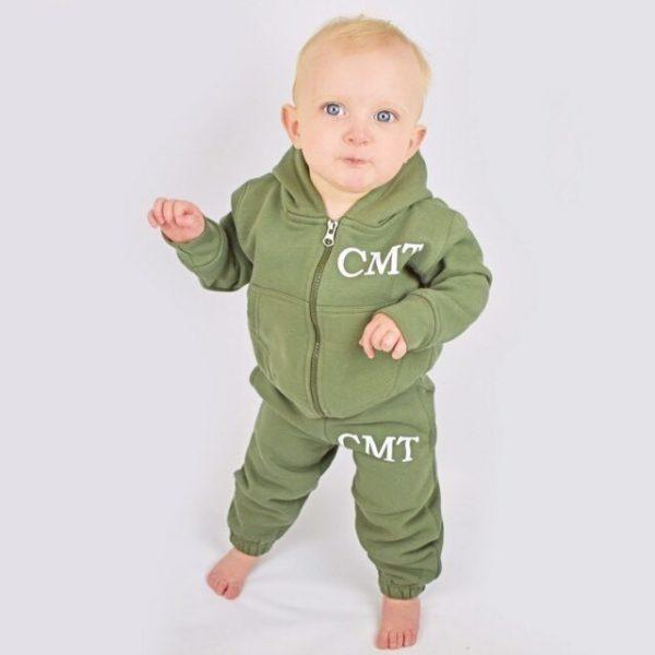 initial baby loungewear - khaki