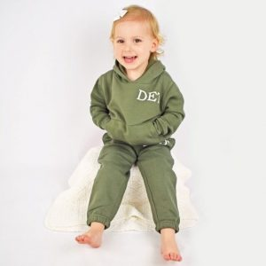 personalised khaki toddler tracksuit