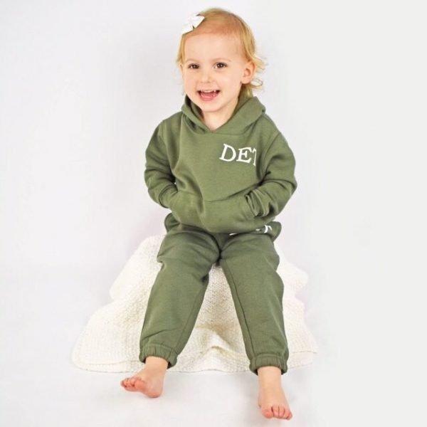 personalised khaki toddler tracksuit