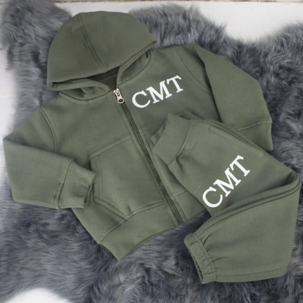 Monogrammed baby tracksuit