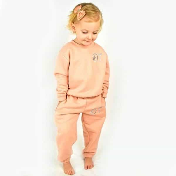 Personalised Baby Girl Tracksuit - Dusky Pink