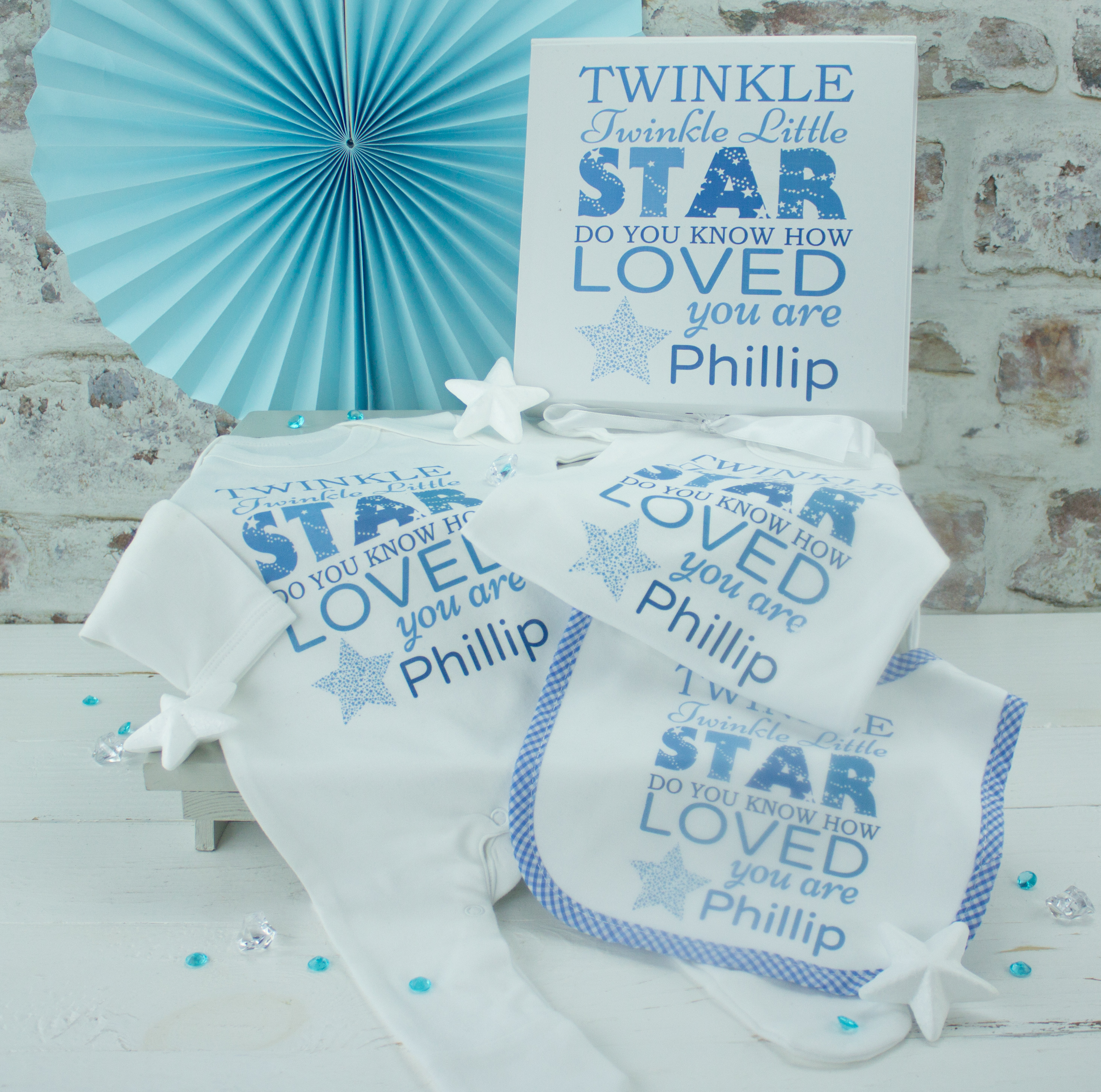 12ef67ff7 Personalised Baby Boy Clothes Gift Box Set