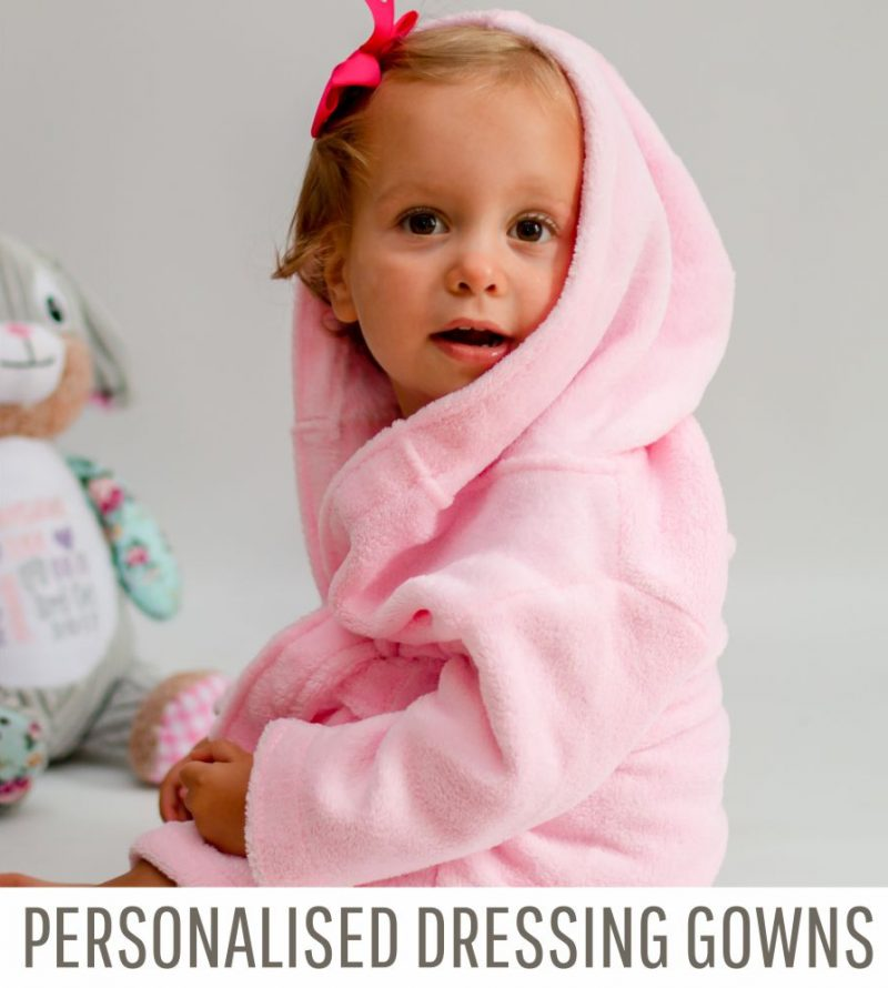 personalised baby dressing gowns banner