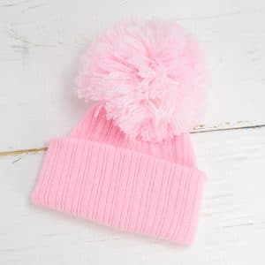 Personalised Baby Girl Pom Hat