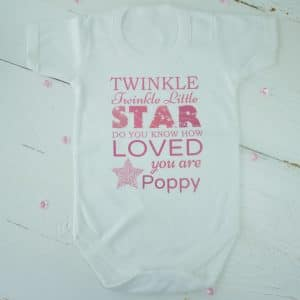 personalised baby girl bodysuit