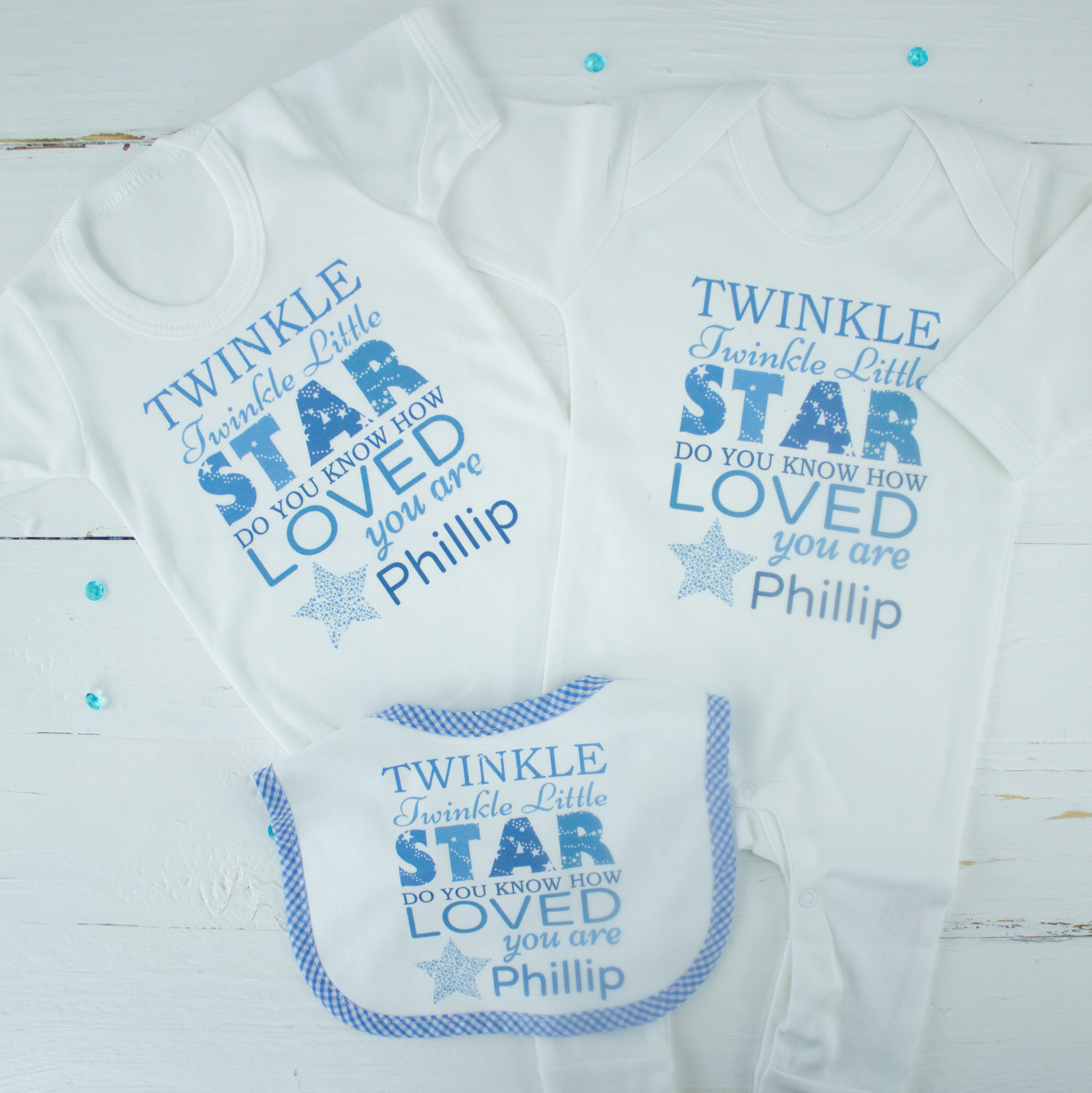 82d688a90095 Personalised baby boy clothes gift set lightbox · lightbox