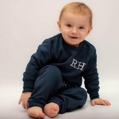 """""""Personalised Navy Baby & Toddler Tracksuit"""""""