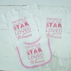 personalised girl baby clothes gift set