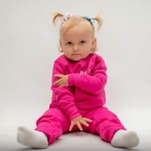 'Personalised Pink Baby & Toddler Tracksuit'