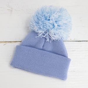 Personalised Large Pom Baby Hat