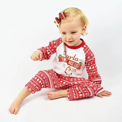 Personalised Baby Christmas PJ's