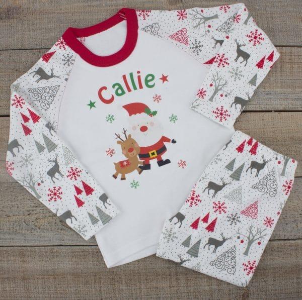 personalised baby christmas pjs